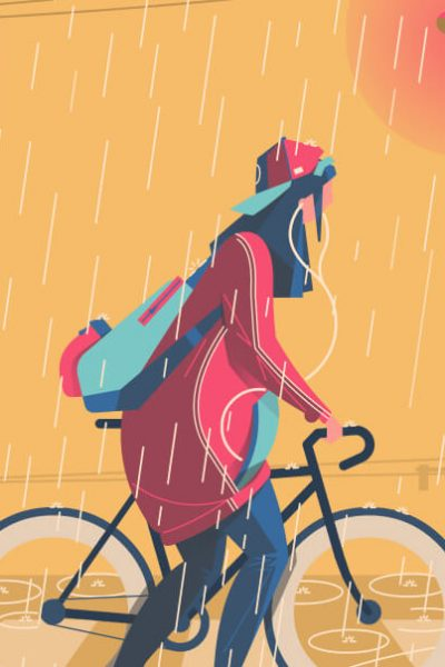 Seven Benefits of Cycling in the Rain